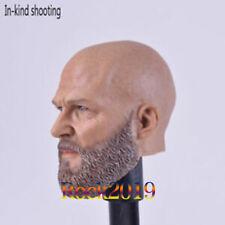 Custom Iron Monger Bearded 1/6 Scale Male Head Sculpt for 12'' Body Hot Toys