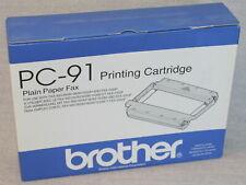 (2) Brother Pc-91 Plain Paper Fax Cartridges 900 950M 980M 1500M 1000P *New*