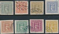 Stamp Austria SC P48-55 1921 Newspaper Mercury Imperforated Used