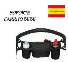 Bolso colgador para carrito de bebe termico para bebidas color Negro movil etc.