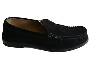 RM Williams Suede Loafers Size 7 Womens Black Leather Shoes