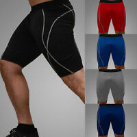 Mens Compression Shorts Baselayer Athletic Skin Pants Stretch Cycling Sportswear