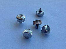 LOTTO di 5 X OMEGA OROLOGIO IN ACCIAIO INOX CORONA CHIAVI (6.01mm x 3.32mm) OC12.
