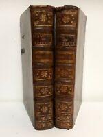 °Lucrèce en Rel. XVIII° 2/2 vol - De la Nature des Choses, Chez Nyon, 1708