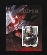 The Witcher 3: Wild Hunt Polish collector block stamp Wiedźmin Geralt of Rivia