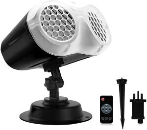 LED 14V 9W White Rotating Snowflake Projector Lights