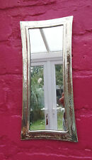 Hand Crafted*  MOROCCAN BEATEN METAL SILVER COLOUR  RECTANGLE SHAPED MIRROR*