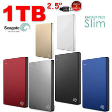 "HARD DISK ESTERNO 2,5"" 1TB 2.5"" SEAGATE Backup Plus Slim USB3.0 & 2.0 HDD 1 TB"
