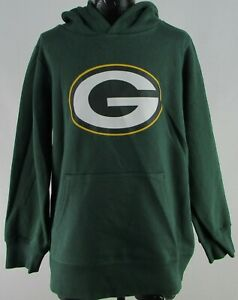 Green Bay Packers NFL Fanatics Youth's Green Mid-Weight Pullover Hoodie
