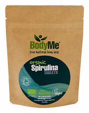 BodyMe Organic Spirulina 500mg Tablets x 100 (Soil Association Certified)