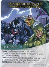 VENOM/DOC OCK/SCORPION Upper Deck Marvel Legendary SCHEME DEADPOOL KILLS UNIVERS