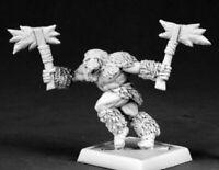 1x BERSERKER BARBARIAN - WARLORD REAPER miniature figurine rpg jdr barbare 14610