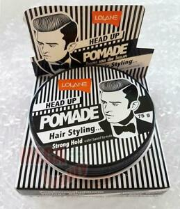 Lolane HEAD UP POMADE Vintage Styling Hair Strong Hold Hair Shiny Man Smart 75g.