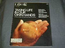 1971 May 18 Look Magazine - Waking Life In Our Own Hands - Test Tube Baby- Lk 56