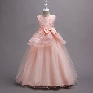 Little Big Girls Princess Pageant Flower Girl Wedding Party Ball Gown Long Dress