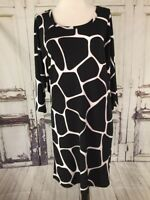 Michael Kors Womens Dress Small Stretch Giraffe Print Black White S Tunic