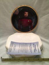Hamilton Collection Plate Commander William T Riker