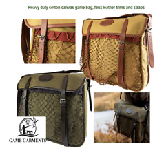 Game Hunting Bag Jack Pyke Canvas & Faux Leather Hunter's Green or Fawn SALE!