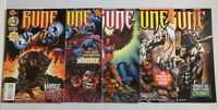 RUNE -Ultraverse- #'s 1, 2, 3, 4, 5 NEAR MINT NM 9.2-9.6 (Malibu Comics 1995)