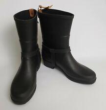 Aigle Short Boots Shoes Black Rain Rubber Miss Julie France Size US 9.5 EU 40