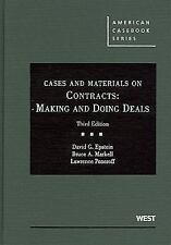 American Casebook: Cases and Materials on Contracts : Making and Doing Deals by