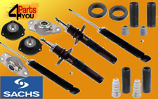 SACHS 4x Front Rear Shock Absorbers AUDI A3 8P1 8P7 8PA +MOUNTS 50mm 2003-2012