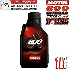 MOTUL 800 2T OFF ROAD FACTORY LINE 100% SINTETICO CROSS ENDURO MISCELA 1 LITRO
