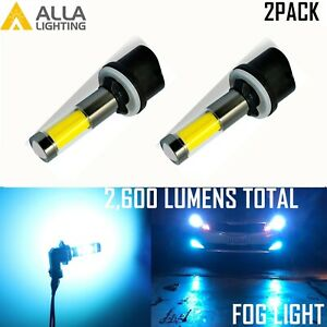 Alla Lighting LED 880 Cornering Light|Fog Light Bulb, Light Blue /Ice Blue Color