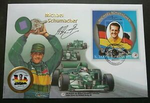 [SJ] Sao Tome Michael Schumacher F1 Winner Car Racing 1997 Sport FDC (coin cover