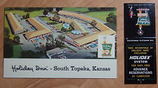 1971 POSTCARD & MATCHBOOK COMBO HOLIDAY INN OF SOUTH TOPEKA KANSAS US 75 TURNPIK