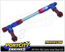 Aeroflow Carb Inlet Rail Kit Barry Grant Demon Dual Fuel Line -8AN AF161-08