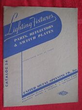 1939 UNITED METAL SPINNING Co. LIGHTING FIXTURES, PARTS, REFLECTORS CATALOG