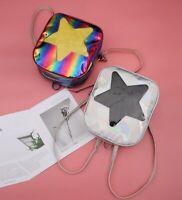 Women Hologram Laser Transparent Star Shape Harajuku Backpacks Bag Schoolbag