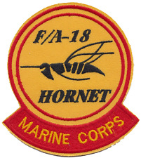 USMC F/A-18 Hornet Fighter Jet Embroidered Patch ** LAST FEW **