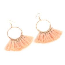 Vintage Women Boho Bohemian Earrings Long Tassel Fringe Dangle Hook Ear Earrings