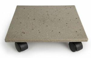 Plastec CD712 Terra Stone Plant Caddy Gray