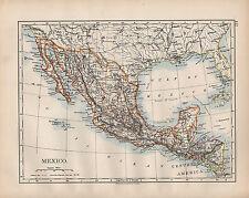 México 1902 mapa ~ ~ Guatemala Honduras