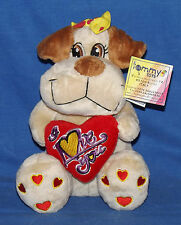 "Idea Regalo San Valentino – Cagnolina peluche con cuore ""I Love You"""