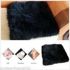 Portable Multifunction Autos Home Seat Sheepskin Long Wool Soft Warm Cushion Pad
