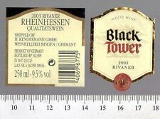 German Wine Label - Black Tower 2003