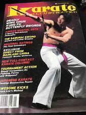 KARATE ILLUSTRATED WILLIAM CHEUNG Wing Chun Bruce Lee Kicks Feb 1985