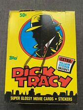 1990 Topps Dick Tracy Glossy Movie Cards & Stickers Box of 36 Sealed Packs