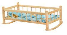 Puppenwiege Bettwäsche Puppenbett Holzpuppenwiege Holz Puppenmöbel Holzwiege
