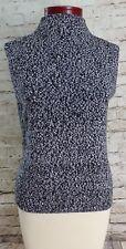 Talbots Black & White Knitted Sleeveless Tank Top Women's Size Petite Small