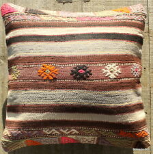 (40*40cm, 16inch) Boho style vintage kilim cushion cover pastel faded brocade 1
