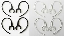 8 Large Clamp Black Clear USA Made Bluetooth Ear Hook Loop Clip 9mm replacement