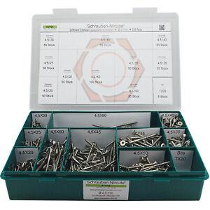 Sortiment/Set Edelstahl Spanplatten Schrauben VA A2 V2A Torx Holzschrauben +Bits