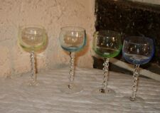Fun glasses 4 color elegant cordials pretzel  twisted stem PRETTY 3OZ