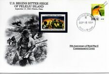 WWII 1944 US Forces Siege of Peleliu Island Stamp Cover (Palau/Danbury Mint)