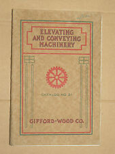 Catalogue Matériel Mine & Carriére GIFFORD WOOD Elevating Conveying Machinery